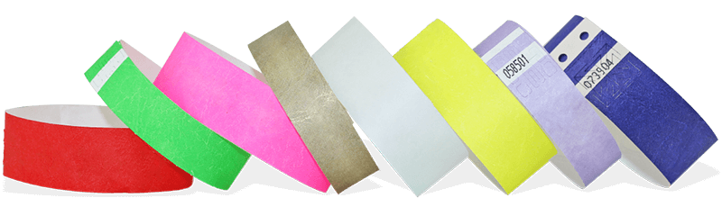Plain Tyvek Wristbands