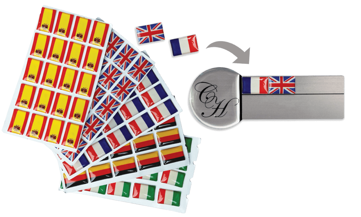 Stick-on Flags