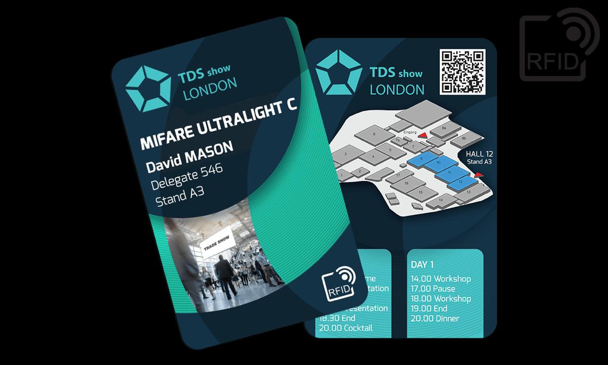Custom RFID cards 133 x 85 mm - Mifare UltraLight C