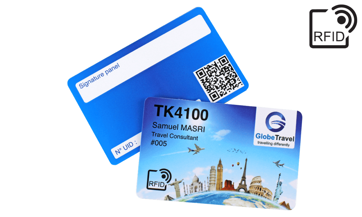 Custom RFID cards 86 x 54 mm - TK 4100