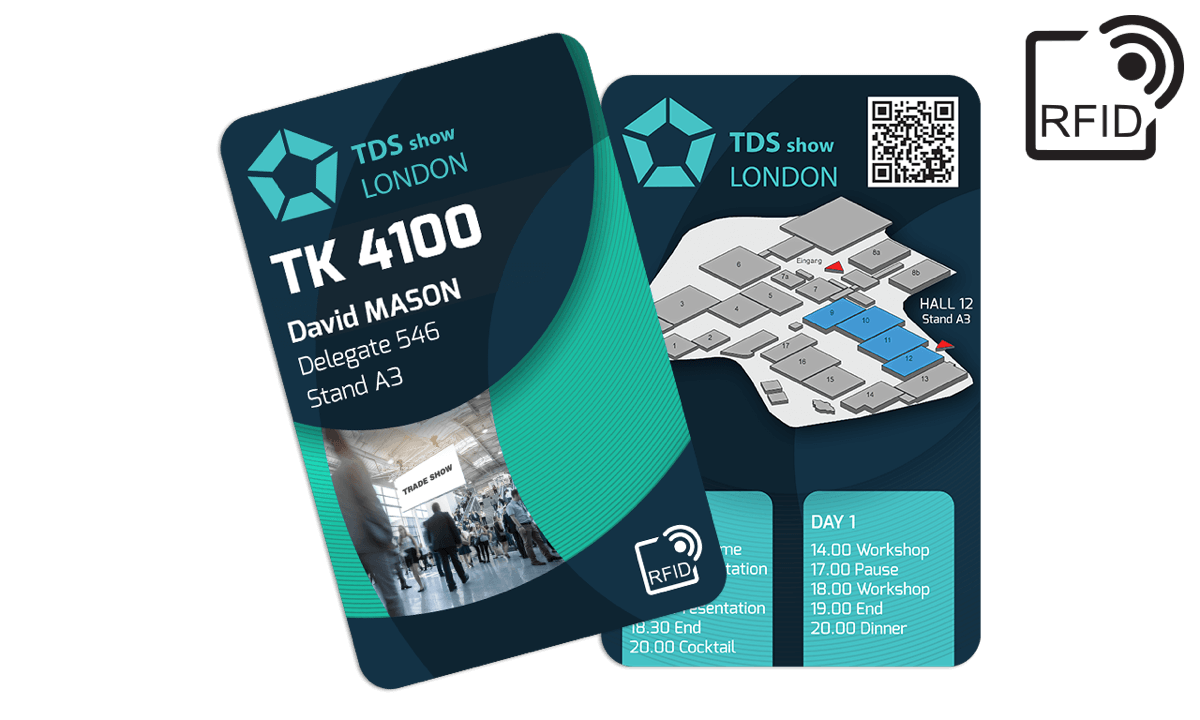 Custom RFID cards 133 x 85 mm - TK 4100