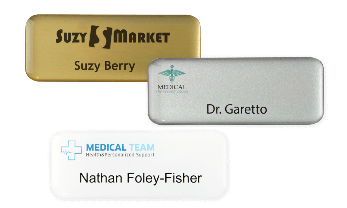 Premium Impress Name Badge, 65 X 25 mm