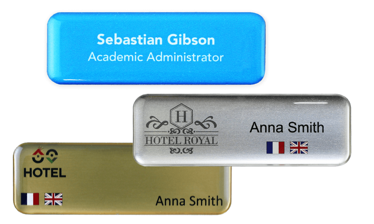 Premium Impress Name Badge, 75 X 25 mm