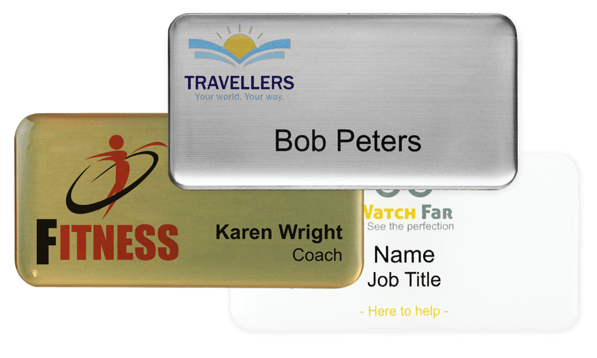 Premium Impress Name Badge, 75 X 38 mm