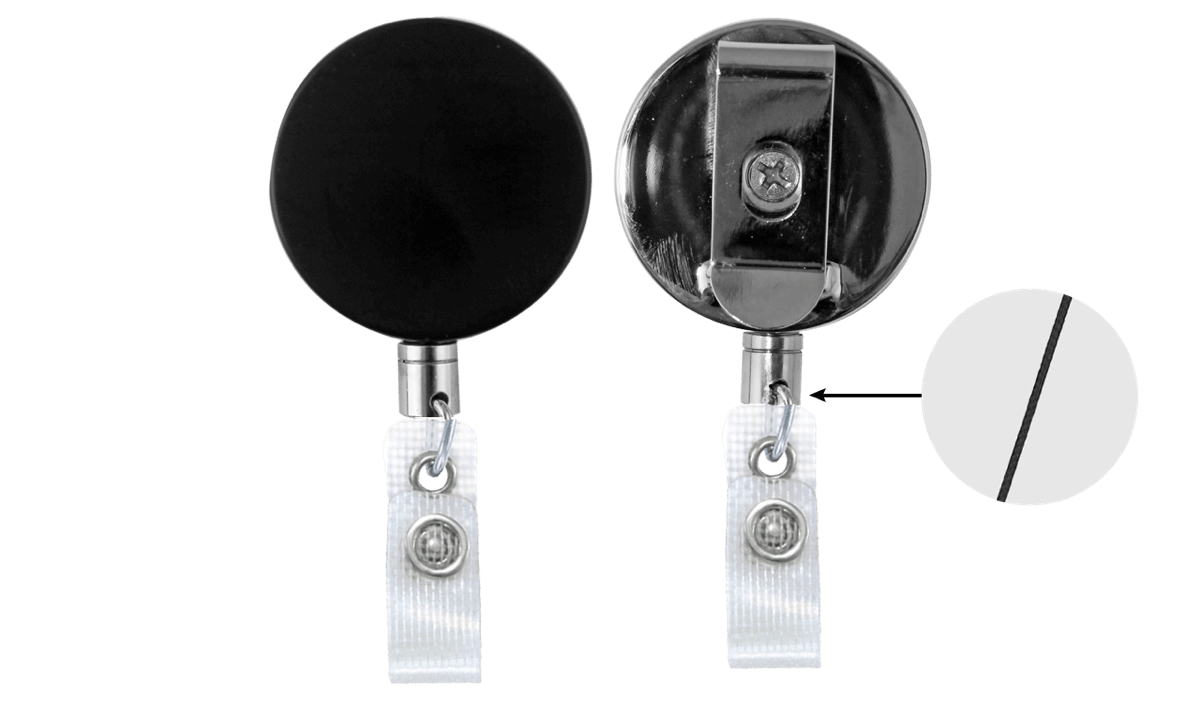 Heavy-Duty Badge-Reel with Nylon Cord & Reinforced Vinyl Strap