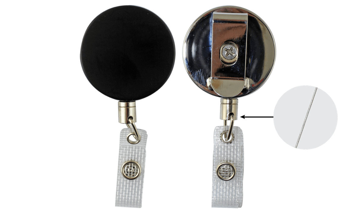 Heavy-Duty Badge-Reel with Steel Wire & Reinforced Vinyl Strap