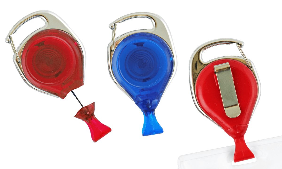 No-Twist Carabiner Badge-Reel with Card Clip