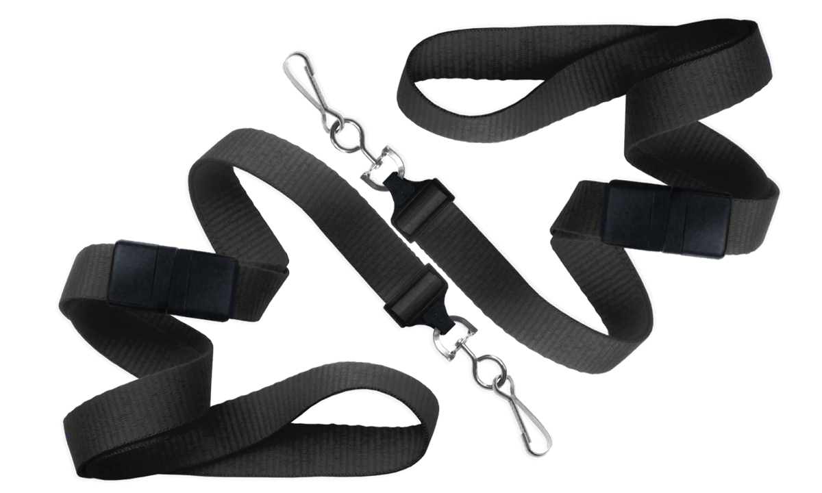 Flat 16mm Break-Away Lanyards with Metal Swivel Hook