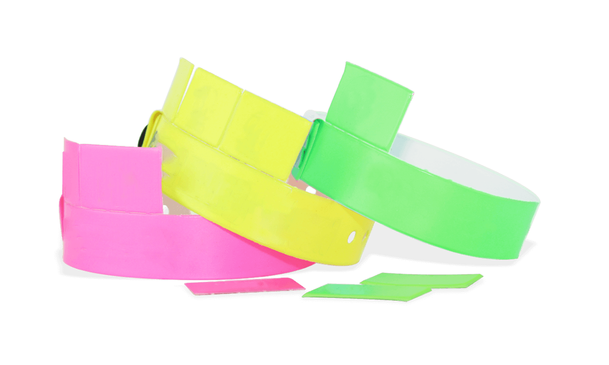 3-Tab Vinyl wristbands 19 mm