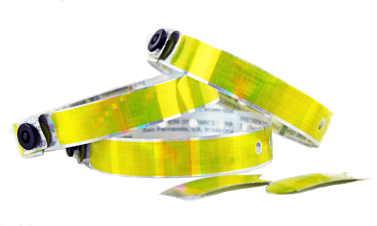 Holographic wristbands 13 mm, Kaleidoscope, Citrin
