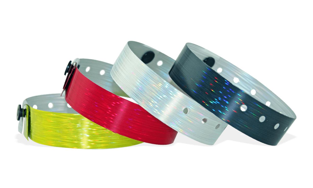 Holographic wristbands 19 mm rain