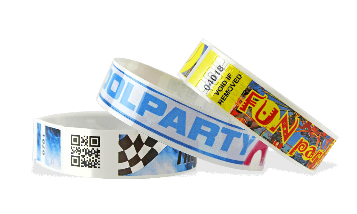 Full-Colour Bar code wristbands NPS 19mm (Matte finish)