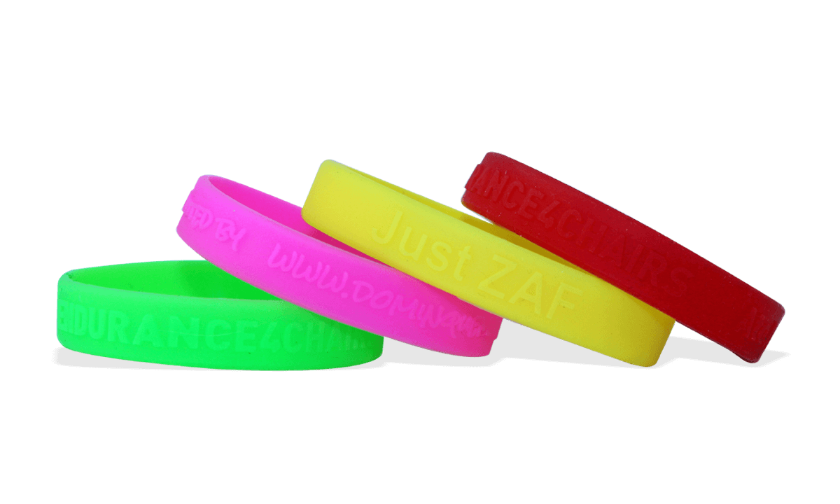 Custom Silicone Wristbands, Large Size, Embossed