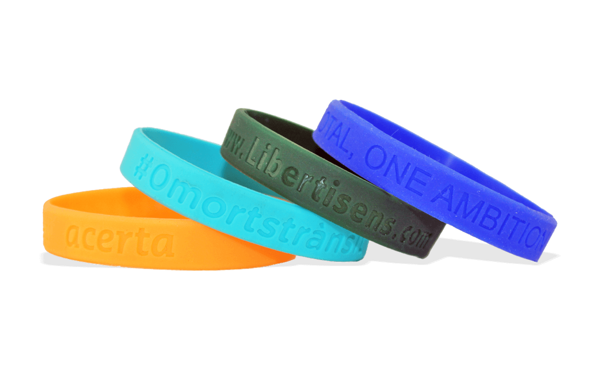 Custom Silicone Wristbands, Small Size, Debossed