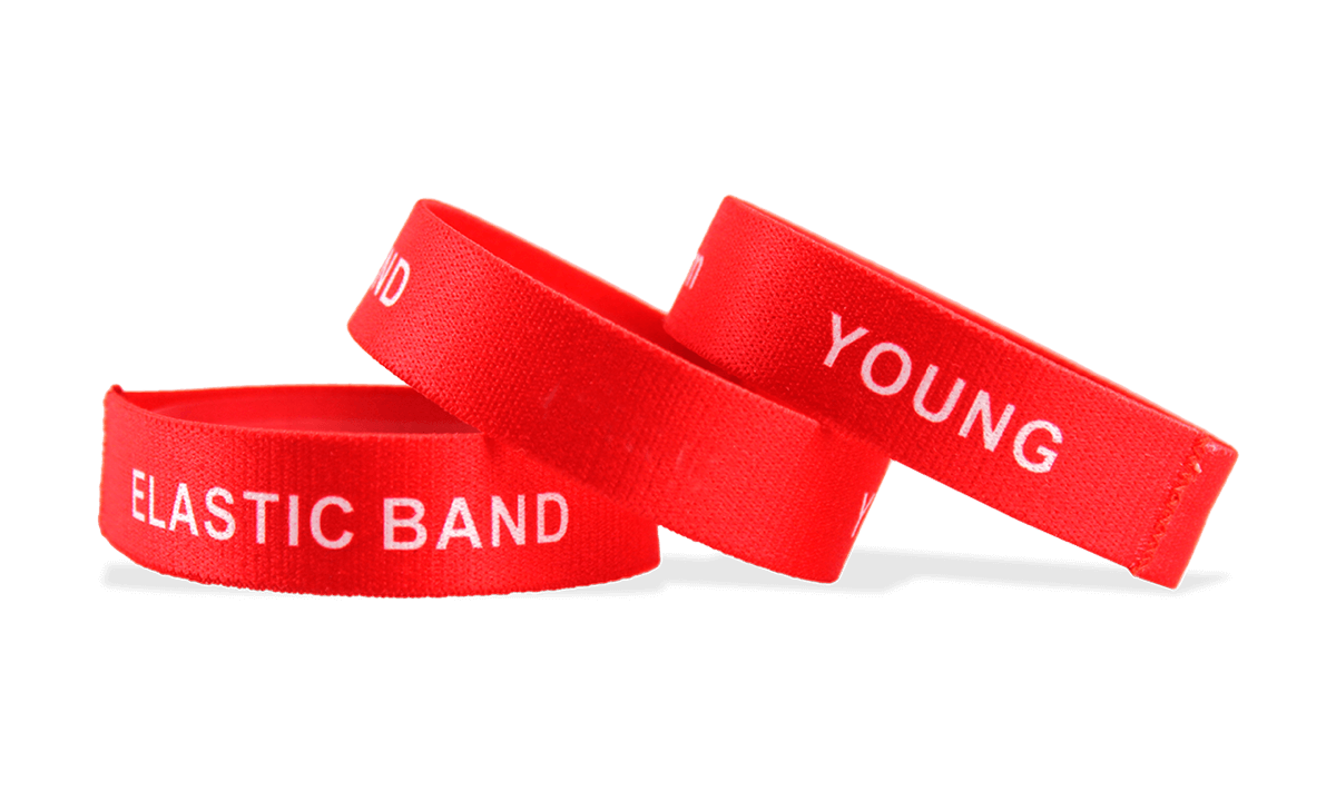Custom Stretch Wristbands, Medium Size