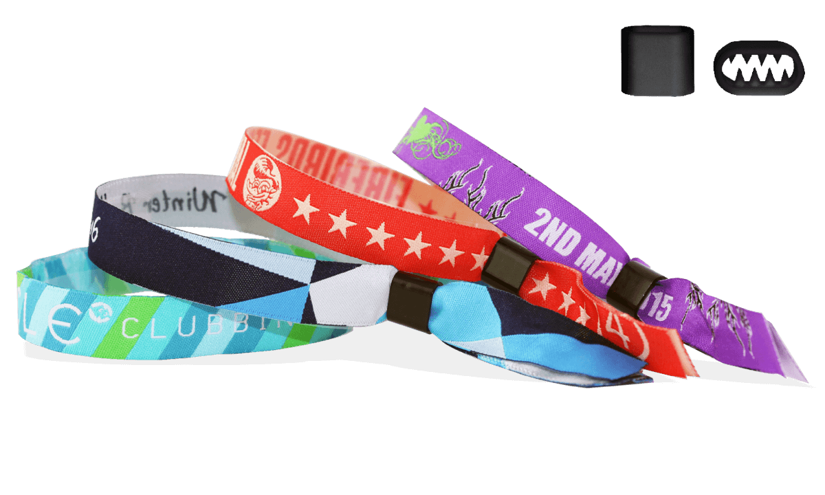 Woven wristbands with plastic flat closure, Berlin