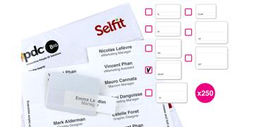 Multimega Selfit Inserts, 75 x 36 mm, White, 250 inserts