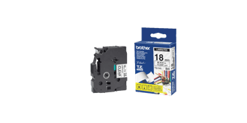 Brother P Touch Tapes, 18 mm, Black On Clear Tape
