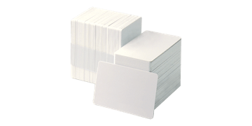 Blank Adhesive-backed PVC cards with Paper Liner - 250 mic
