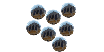 Button badges 25mm, round