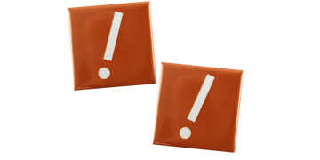 Button badges 40X40mm, square