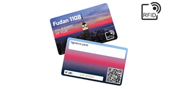 Custom RFID cards 86 x 54 mm - Fudan 1108