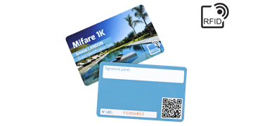Custom RFID cards 86 x 54 mm - Mifare 1K