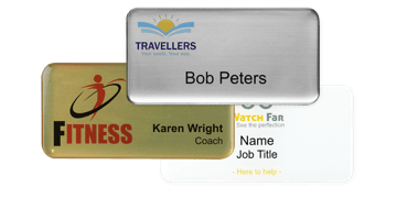 Premium Impress Name Badge, 75 X 38 mm