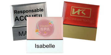 Premium Reusable Name Badge, 50 X 50 mm, 18 mm sticky label