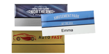 Premium Reusable Name Badge, 75 X 32 mm, 12 mm sticky label
