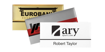 Premium Reusable Name Badge, 75 X 38 mm, 12 mm sticky label