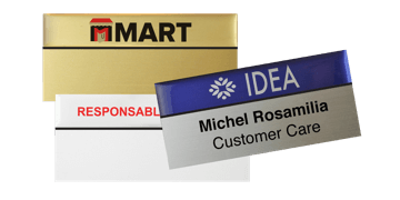 Premium Reusable Name Badge, 75 X 38 mm, 24 mm sticky label