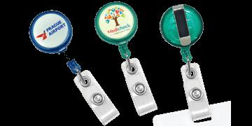 Custom Translucent Round Maxlabel Badge-Reel