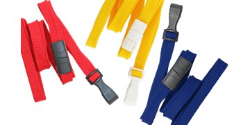 Tubular 10mm Break-Away Lanyards with Plastic Hook