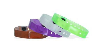 Translucent Vinyl wristbands 13 mm