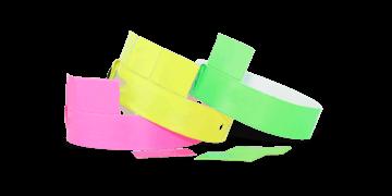 3-Tab Vinyl wristbands 19 mm