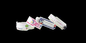 Custom Full-Colour plastic wristbands 19 mm for Kids