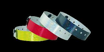 Holographic wristbands 19 mm rain