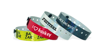 Custom Holographic wristbands 19 mm rain