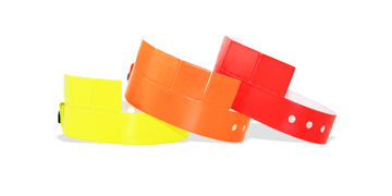 5-Tab Vinyl wristbands 19 mm