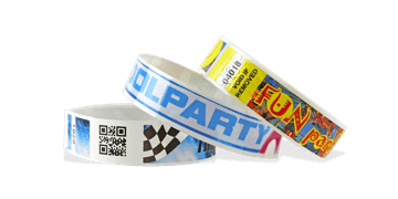Full-Colour Bar code wristbands NVS 19mm (Glossy finish)