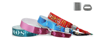 Satin wristbands with metal flat closure, Honolulu