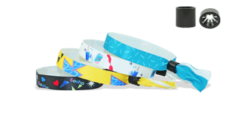 Smooth Satin wristbands with plastic sliding clip closure, Oslo