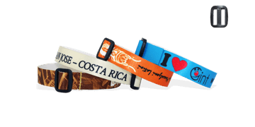 Smooth Satin wristbands with reusable plastic closure, Roma