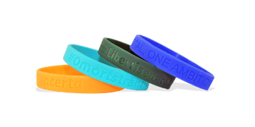 Custom Silicone Wristbands, Medium Size, Debossed