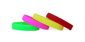 Custom Silicone Wristbands, Medium Size, Embossed
