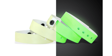 Plain Vinyl Wristbands, 19 mm, Glow In The Dark