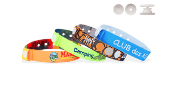 Woven wristbands with plastic slim round clip closure, Tenerife